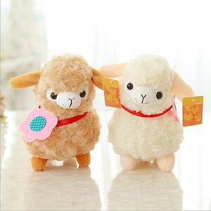 Alpaca Sheep Plush Toy Cream Arpakasso Llama Doll Stuffed Animal Kid GiftDS