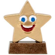 Happy Winner Star face Trophy mini star. *Free Engraving*