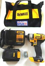 "DEWALT 20V MAX 1/4"" CORDLESS IMPACT DRIVER W/BELT HOOK,3.0Ah BATTERY,CHARGER,BAG"