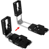 L Shaped Quick Release Plate Holder for Canon EOS 7D&Mark II Camera Battery Grip