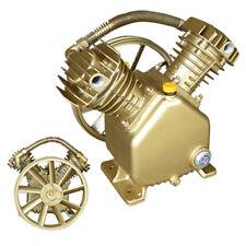 3 Hp Air Compressor Head Tool Twin Piston Cylinder Pump Pneumatic V Type Auto