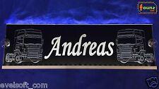 "Großes LED Leuchtschild Truck LKW ""Andreas"" oder Wunschname 12/24V weiß ©faunz"