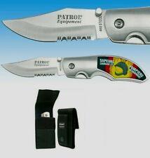 Couteau en acier 440 double face SAPEURS POMPIERS en 3D + Housse de protection