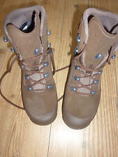 HAIX DESERT COMBAT HIGH LIABILITY WOMENS BROWN SUEDE BOOTS SIZE 3M BRITISH ARMY