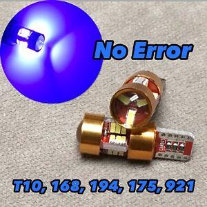 PARKING LIGHT T10 LED BLUE bulb No Canbus Error w5w 168 194 12961 27SMD for V W