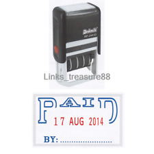 One { PAID } Deskmate Self-Inking Date Stamp Ship with Tracking