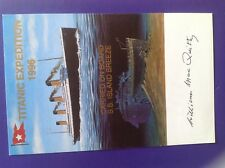 Titanic Expedition 1996 postcard signed William MacQuitty producer 16/100