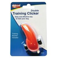 Animal Instincts DOG DOUBLE TRAINING CLICKER with Training Booklet