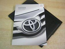 Toyota AVENSIS Owners Manual Manual Pack Cartera 2014-2017
