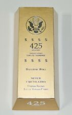 United States Tender Coins Ballistic Roll George Washington 425 Grams