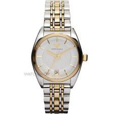 AR0380 New Genuine Emporio Armani S/S 2 tone Ladies Stylish Bracelet Watch £329