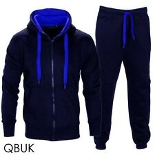 NEW MENS TRACKSUIT SET FLEECE HOODIE TOP & BOTTOMS JOGGERS GYM CONTRAST JOGGING