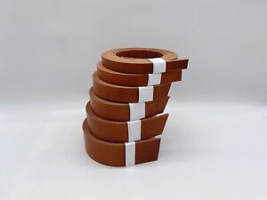 3.5 - 4mm thick veg tan leather cowhide belt strip saddle tan - select size