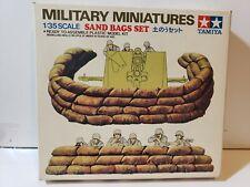 Tamiya Military Miniatures Brick Wall & Sand Bag Set 1.35 Scale kit MM 128 & 126