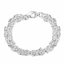 925 Silver Plt Bali Cable Chain Bracelet / Bangle / Anklet Multi Twist Link A