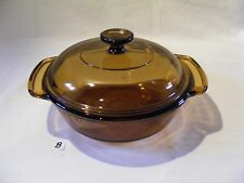ANCHOR OVENWARE 1.5 Qt. AMBER ROUND CASSEROLE DISH WITH LID
