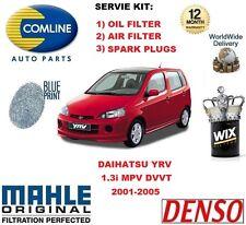 für Daihatsu YRV 1.3 DVVT 2001-2005 ÖL Luftfilter + Zündkerzen Wartungs-Satz