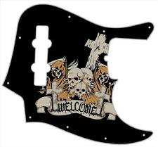 J Bass Pickguard Custom Fender Graphic Graphical Guitar Pick Guard Skulls Reaper