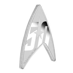 2016 Tuvalu Star Trek Delta Emblem $1 One Dollar Silver Proof 1oz Coin Box Coa