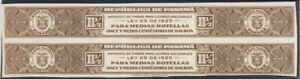 Panama 1920's, liquor tax fiscal, IMPERF PROOF, American Banknote archives, lg
