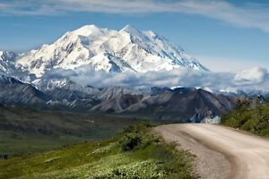 STUNNING MOUNTAIN ROAD LANDSCAPE CANVAS PICTURE POSTER PRINT UNFRAMED #1220