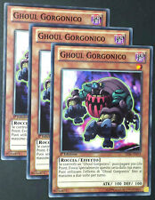 Set 3X GHOUL GORGONICO LVAL-IT013 Comune in Italiano YUGIOH