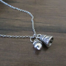 Peter and Wendy Acorn and Thimble Charm Necklace Jewelry, Peter Pan Inspired