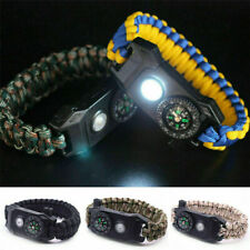 20 in 1 Emergency Survival Paracord Bracelet SOS LED Camouflage Compass Simple