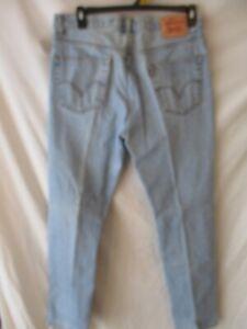 Levi's 505 100% Cotton 34 x 36 Med  Rinse Regular Fit Blue Jeans