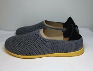 PR# Mahabis Breathe Light Grey Yellow Slippers UK 6.5/EU 40