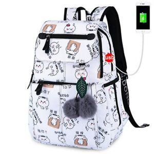 Schoolbag for Girls Women Backpack Schoolbag With USB Charging Port Rucksack