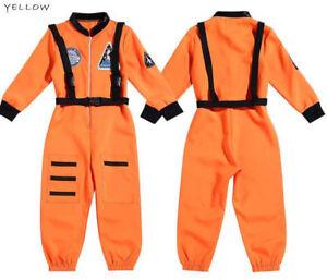 Fashion Astronaut Costume Unisex Boys Girls Kids Halloween Party Jumpsuit Outfit