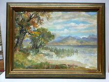 "Egon Müller-Graf - ""Auf der Fraueninsel"" Dekoratives Ölgemälde, entst. 1940-60"