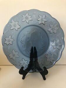 1~Princess House Fantasia Sapphire Blue Scalloped Lunch Plate~Beautiful~
