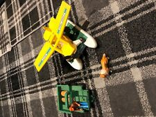 Vintage Early 70's Fisher Price Toys SEA PLANE  and truck with  figure and dog