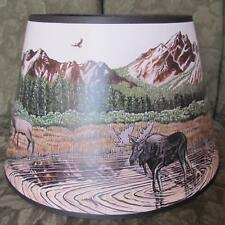 "ROCKY MOUNTAIN HIGH 14"" Aladdin Parchment Shade for alladin oil /kerosene lamp"