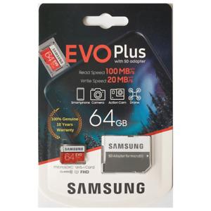 Samsung 64GB Micro SD Memory card Class 10 U1 For BLACKVUE DR900S-1CH FHD