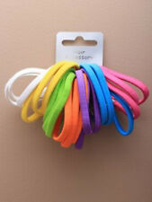 Card of 21 Bright 5mm Assorted Coloured Elastics / Hair Bobbles (J036)