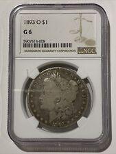 1893 O $1 MORGAN SILVER DOLLAR NGC G 6 Certified Coin