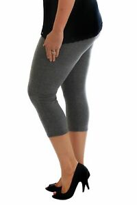 New Womens Leggings Plus Size Ladies Cropped Trouser Soft Stretch Capri Nouvelle
