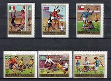 s4962) MANAMA 1970 MNH** WC Football - Coppa del Mondo Calcio 6v OVPTD IMPERF