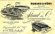 #MILANO: testatina- RUBINO & HUNI rappresentanti casa STAUB & C.o (Svizzera)