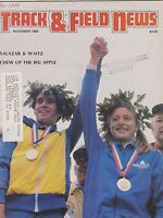 NOV 1980 TRACK AND FIELD NEWS sports magazine SALAZAR and WAITZ