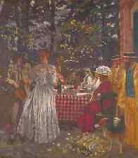 Edouard Vuillard The Terrace At Vasouy, The Lunch A4 Print