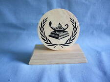 small round KNOWLEDGE Award  trophies wood party favor