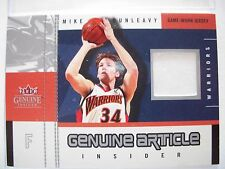 2003-04 FLEER GENUINE ARTICLE  GAME JERSEY MIKE DUNLEAVY  WARRIORS  BOX54