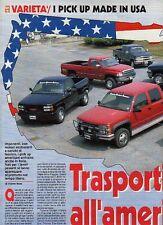 Z83 Ritaglio Clipping 1994 Pick-up USA Dodge RAM 5.9 V8 GMC Sierra 5.7 V8