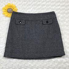 Gap Womens A-Line Mini Skirt Size 6 Lined Black White cs3607