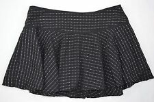 Kik Girl Juniors Gothic Black White Checker Mini Skirt size S Small
