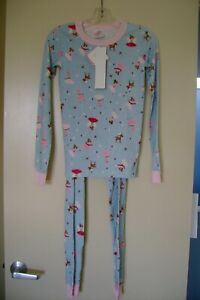 New Hanna Andersson pink & blue dancing fairies organic cotton pajamas 150 12 US